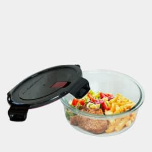 Frischhaltedose aus Borosilikatglas mit Kunststoffdeckel