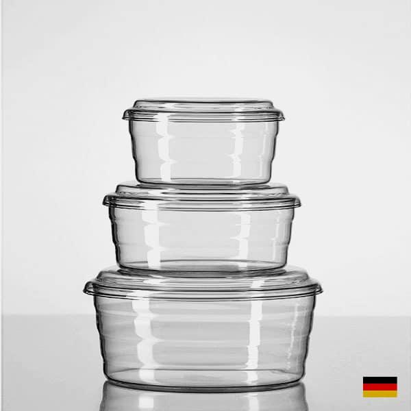 Frischhaltedose aus Borosilikatglas