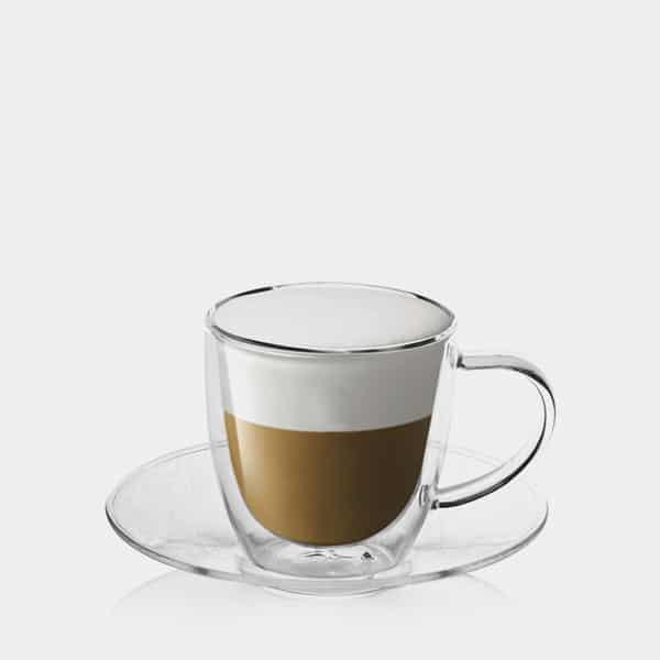 Kaffee mit Untertasse